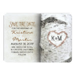 Birch Tree Rustic Save The Date Cards