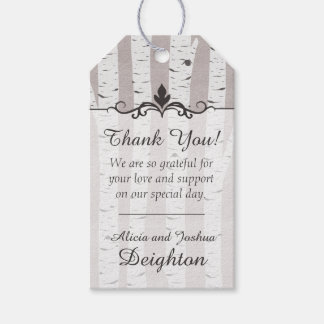 Birch Tree Rustic Wood Nature Wedding Thank You Pack Of Gift Tags