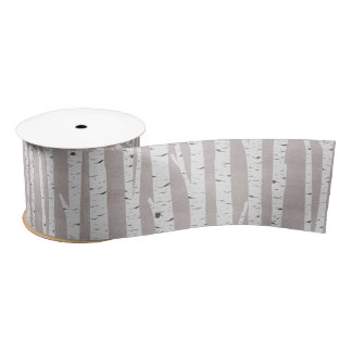 Birch Tree Rustic Woodland Wedding Decor Satin Ribbon