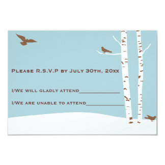 Birch Tree Wedding R.S.V.P Cards