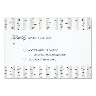 "Birch Tree Wedding RSVP 3.5"" X 5"" Invitation Card"