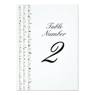 "Birch Tree Wedding Suite Table Number 5"" X 7"" Invitation Card"