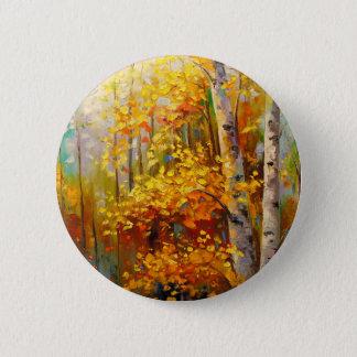 Birch trees 2 inch round button