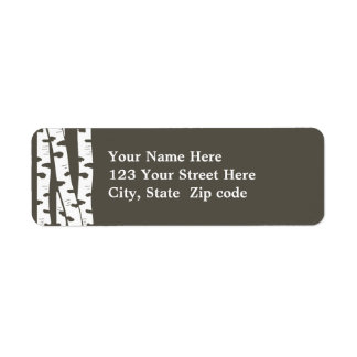 Birch Trees Address or Gift tag