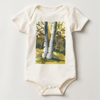 Birch Trees Baby Bodysuit