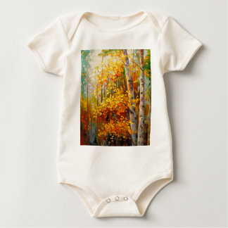 Birch trees baby bodysuit