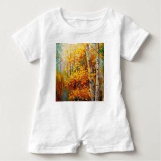 Birch trees baby romper