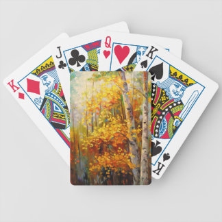 Birch trees bicycle playing cards