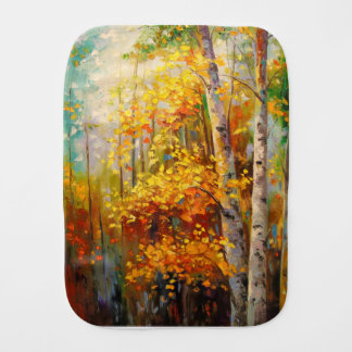 Birch trees burp cloth