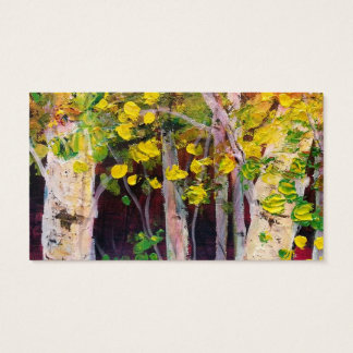 Birch Trees Business Card