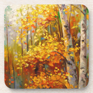 Birch trees coaster