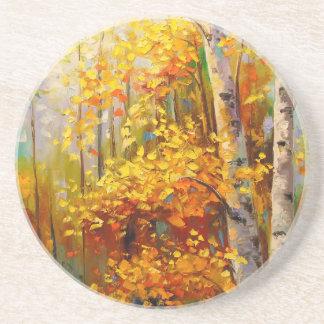 Birch trees drink coaster