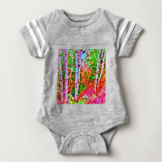 Birch Trees in Springtime Baby Bodysuit