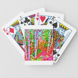 Birch Trees in Springtime Bicycle Playing Cards
