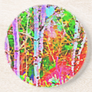 Birch Trees in Springtime Coaster