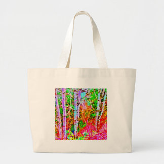 Birch Trees in Springtime Large Tote Bag