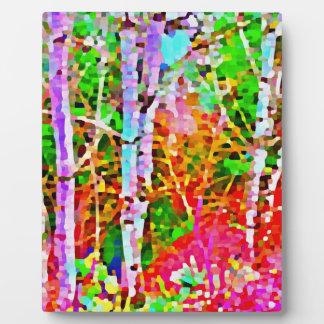 Birch Trees in Springtime Plaque