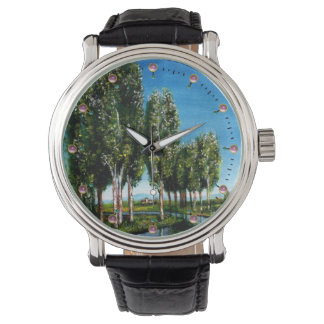 BIRCH TREES IN TUSCANY LANDSCAPE WATCH