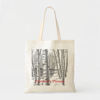 Birch Trees In Winter Christmas Xmas Tote Bag