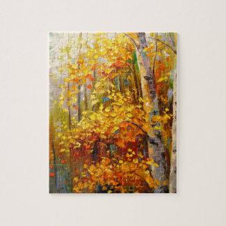 Birch trees jigsaw puzzle
