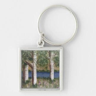 Birch Trees keychain