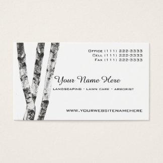 Birch Trees Landscape Arborist Business Card