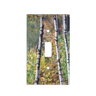 Birch trees light switch cover