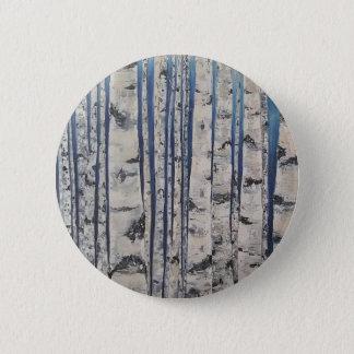 Birch trees Morse Code 2 Inch Round Button
