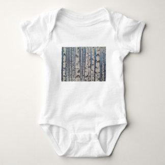 Birch trees Morse Code Baby Bodysuit
