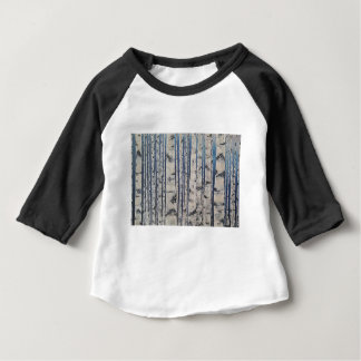 Birch trees Morse Code Baby T-Shirt