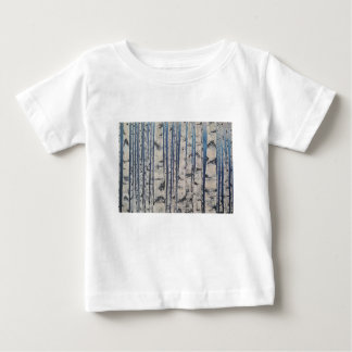 Birch trees Morse Code Baby T-Shirt