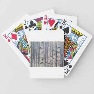 Birch trees Morse Code Bicycle Playing Cards