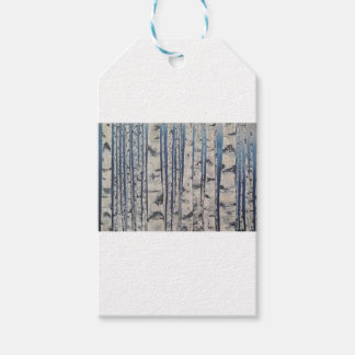 Birch trees Morse Code Gift Tags