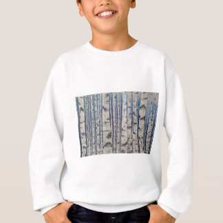Birch trees Morse Code Sweatshirt