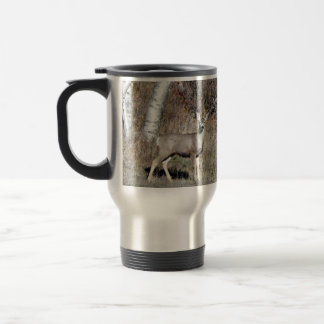 Birch Trees & Mule Deer Travel Mug