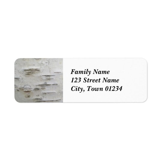 Birch Trees Return Address Label