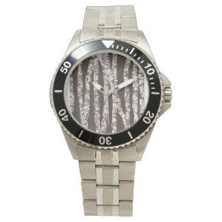 Birch Trees - Stainless Steel Watch!!! Wrist Watches