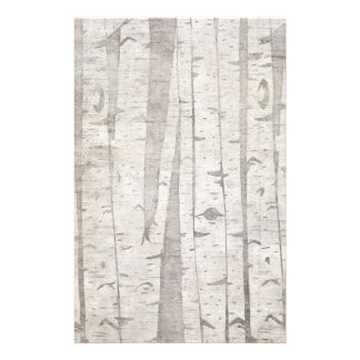 Birch Trees Personalized Stationery