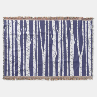Birch Trees Throw Blanket