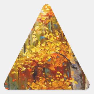 Birch trees triangle sticker
