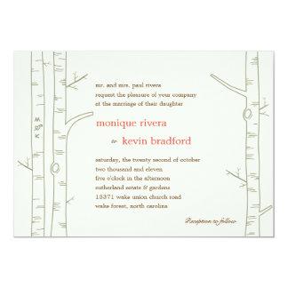 Birch Trees Wedding Invitation - Custom Cards