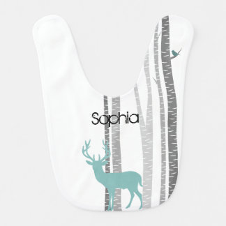 Birch Trees with Deer Bib