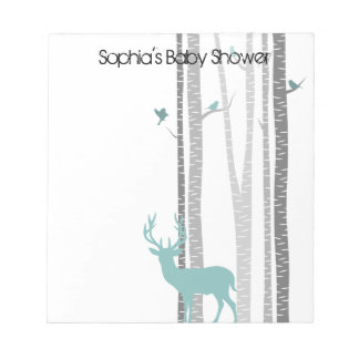 Birch Trees with Deer Notepad
