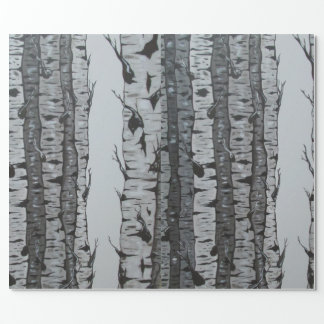 Birch Trees Wrapping Paper