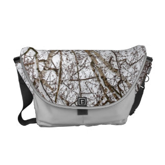 birch with snow commuter bag