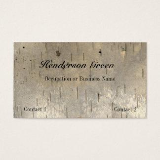 Birch Wood Print Business Card