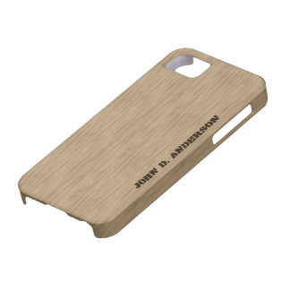 Birch wooden look, add name custom case for the iPhone 5