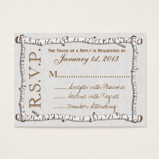 Birch Woods Rustic RSVP Cards (pk 100)