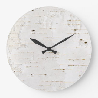 Birchbark Large Clock