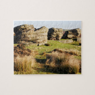 Birchen Edge, Peak District souvenir photo Jigsaw Puzzle